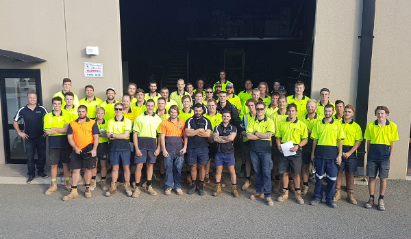 Casotti Plumbers Perth Group Photograph